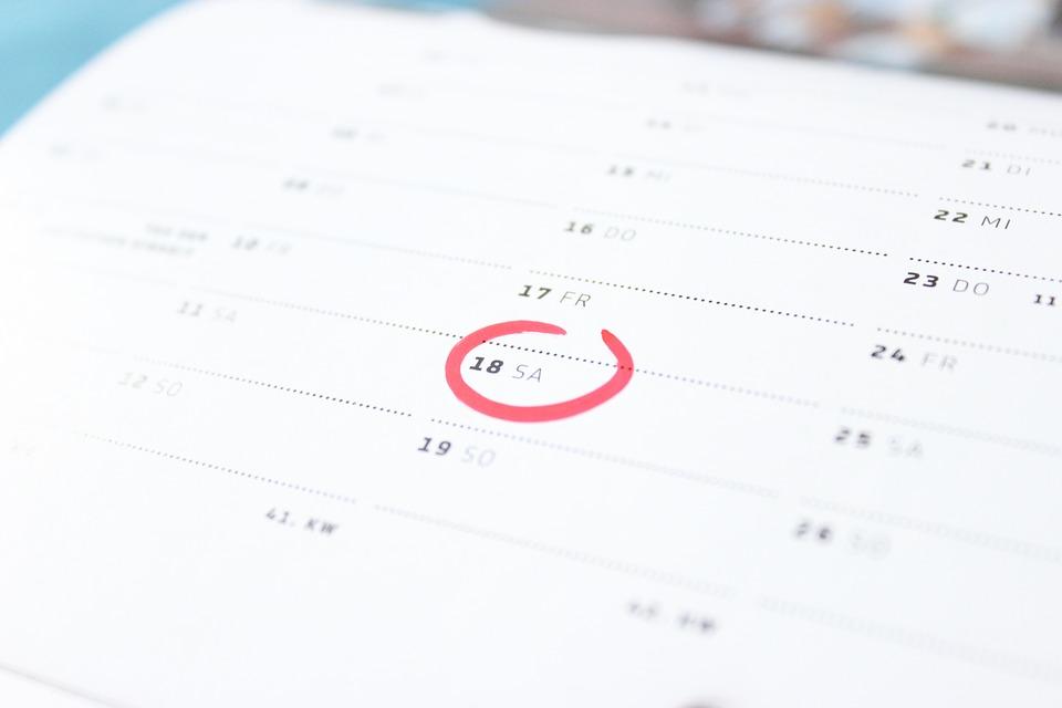 Calendario de días inhábiles de 2017
