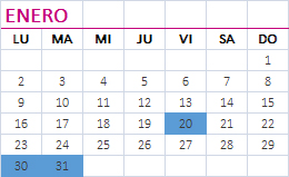 Calendario enero 2017 obligaciones