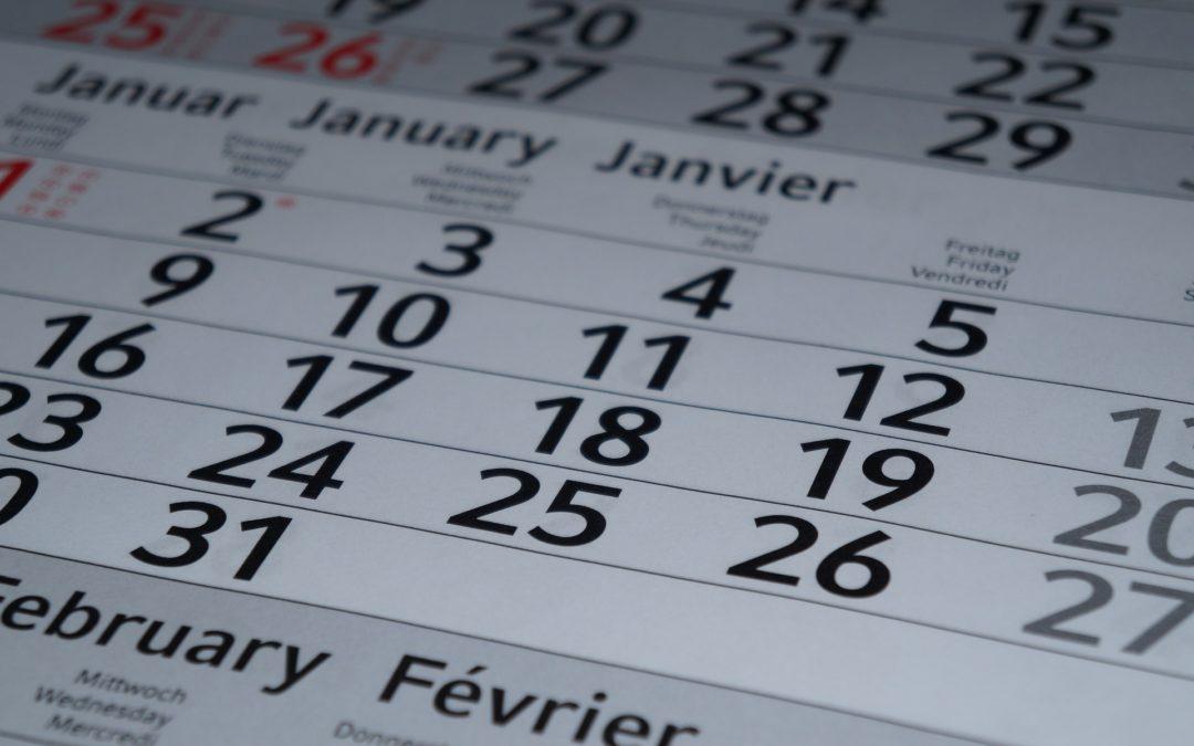Calendario de obligaciones 2020 | Primer trimestre